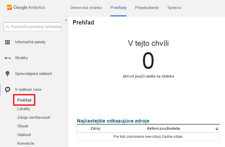 Máte otvorenú webovú stránku, ale Analytics vám tvrdí že práve teraz nikto nie je na stránke? No niekde je asi chyba